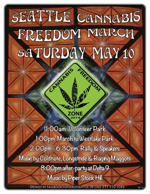 Cannabis Freedom March in Seattle