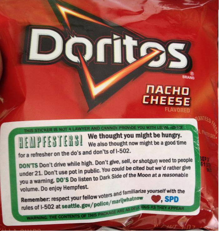SPD hands out doritos with a  good message