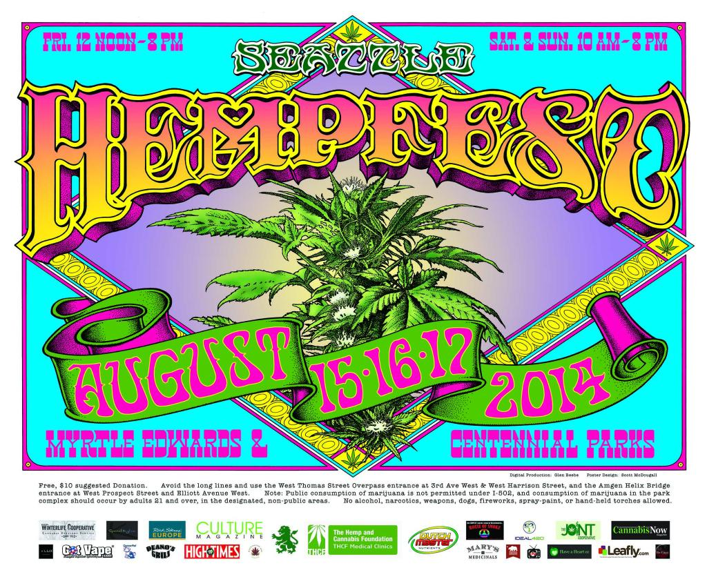Seattle Hempfest August 15th - 17th, 2014